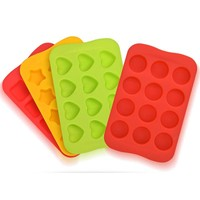 1 PC 12 Grid Ice Cube Silicone Tray DIY Ice Maker Chocolate Mould Ice Mold Kitchen Accessories 5 Colors