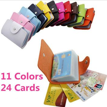 DCCKHY9 Business Credit Card Wallet Holder Bags PU Leather Buckle Bank Card Bag 24  ID Card Cover Bank Multi-functional Cover BB071-SZ