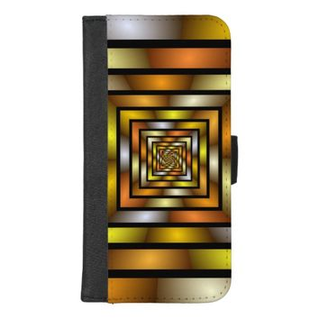 Luminous Tunnel Colorful Graphic Fractal Pattern iPhone 8/7 Plus Wallet Case