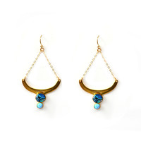 Vernazza Moon Drop Earrings