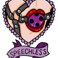 Speechless Sticker