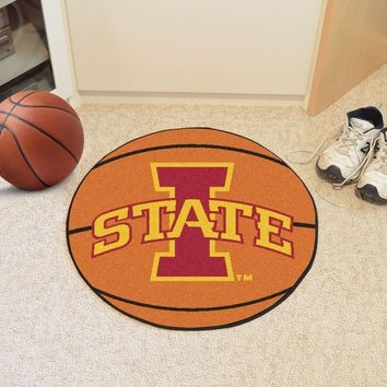 "Iowa State Basketball Mat 27"" diameter"