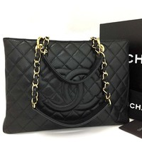 Chanel Shopping Tote Grand Black 5670 (Authentic Pre-owned)