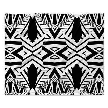 "Pom Graphic Design ""Africa"" Black White Fleece Throw Blanket"