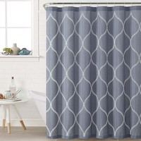 Victoria Classics Kimberly Fabric Shower Curtain