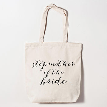Stepmother of the Bride Calligraphy Tote Bag