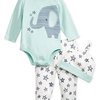 First Impressions 3-Pc. Hat, Elephant Bodysuit & Pants Set, Baby Boys (0-24 months), Only at Macy's | macys.com