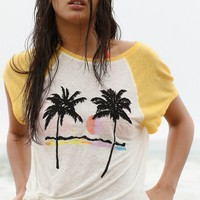 Free People We The Free Island Palm Tree Tee