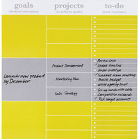 Lulalu Prioritzer Notebook Multistripe Yellow White Grey