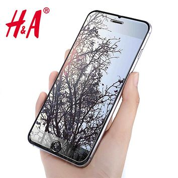 H&A 2.5D 0.26mm 9H Premium Tempered Glass for iphone 7 6 6s plus Screen Protector for iphone 6 7 6s 5 5s 4 protective glass