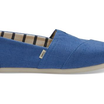 TOMS - Women's Classics Venice Collection Blue Crush Heritage Canvas Slip-Ons