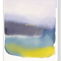 Fringe Studio 'Water Study - Be Still' Softcover Journal - Blue