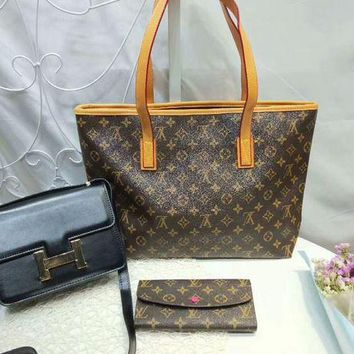 DCC3W Year-End Promotion 3 Pcs Of Bags Combination (LV Handbag ,Hermes Bag ,Lv Wallet)