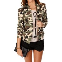 Camouflage Long Sleeve Jacket