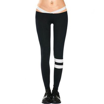 ESBON push up legging fitness clothing workout clothes for women low waist legging striped work out legging female sweat pants HP0437