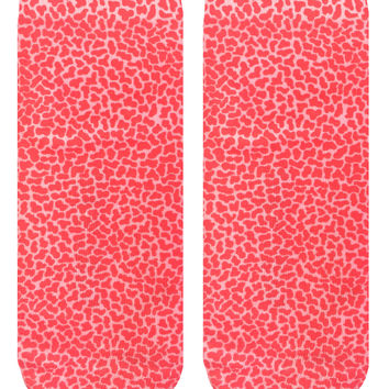 Pebble Red Ankle Socks