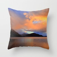 Sunset Throw Pillow by Haroulita | Society6