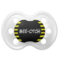 Bumble Bee Bee otch Baby Pacifier from Zazzle.com
