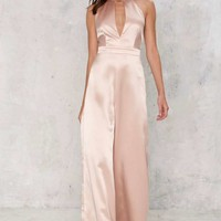 Parlor Satin Jumpsuit