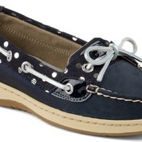 Sperry Top-Sider Angelfish Foil Dot Slip-On Boat Shoe Navy, Size 6M  Women's Shoes