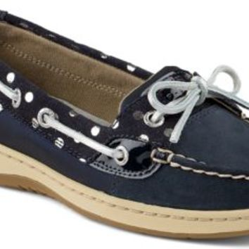 Sperry Top-Sider Angelfish Foil Dot Slip-On Boat Shoe Navy, Size 8.5M  Women's Shoes