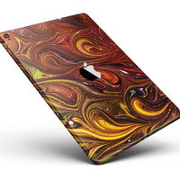 "Red Acrylic Swirl Full Body Skin for the iPad Pro (12.9"" or 9.7"" available)"