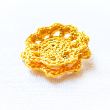 Spring holiday accessories Lemon yellow crochet by Mashacrochet