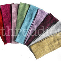 20 glitter knit headbands - soft and stretchy // pick your colors - bulk lot