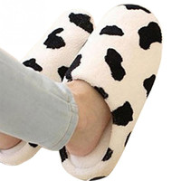 New Men and Women  Anti-slip Flats Shoes Soft Winter Warm Cotton Cow House Indoor Couple Slippers