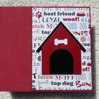 6x6 Dog Scrapbook Photo Album