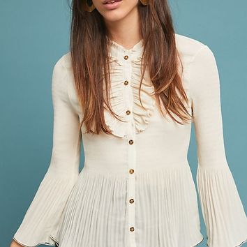 Alcott Ruffled Buttondown