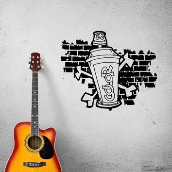 Wall Decal Graffiti Street Art Funny Picture Vinyl Sticker (ed938)