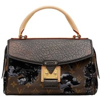 2010s Louis Vuitton Canvas, Calfskin & Sequin Fleur De Jais Carrousel
