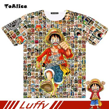 One Piece T shirt 2017 Fashion Japanese Anime Clothing Full Graphic Luffy T-shirt For Man And Women Brand Camiseta Drop Ship