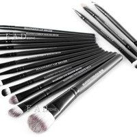 15pcs Makeup Brushes Set Soft Comestic Foundation Eyeline Eyeshadow Lip Nose Kit