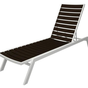 Lounge Chair - Chocolate Brown With White Frame