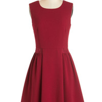Sleeveless A-line Maraschino Cheery Dress in Bing Cherry