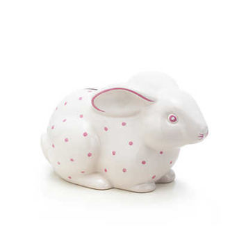 Tiffany & Co. - Bunny bank in earthenware, pink.