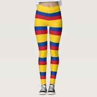 Leggings with flag of Colombia