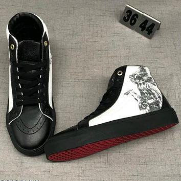 Vans Sk8-HI Reissue Women men Trending Fashion high Tops Print Running Sport Shoes G-CSXY