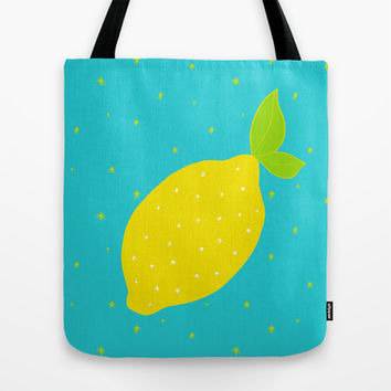 Lemon Tote Bag by Ariel Lark | Society6