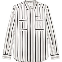 Maison Margiela - Slim-Fit Striped Cotton Shirt