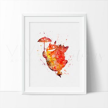 Totoro, My neighbor Totoro Watercolor Art Print