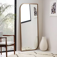 Metal Framed Floor Mirror - Rose Gold