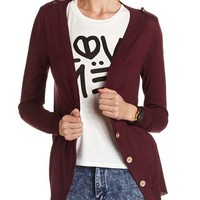 BUTTON-FRONT LIGHTWEIGHT CARDIGAN