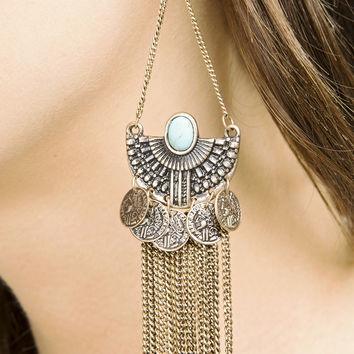 Coin Fringe Earrings