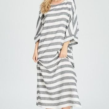 Lumino Striped Linen Dress