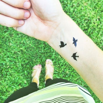 tiny bird tattoos flying birds temporary tattoo gift stocking stuffers bohemian tattoos fake tattoos small sparrow tattoos black friday sale