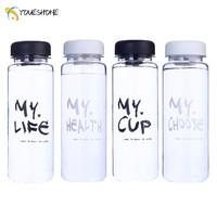 500ml Best Quality My Fashion Breakproof Water Bottle  Travel movement Fitness Camping Lemon Juice Drinkware Readily Space