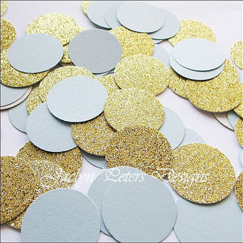 Party Confetti, Glitter Gold, Baby Blue, Wedding Supply, Baby Shower Decoration, Bridal Shower, Table Scatter, Sweet 16 Party, 150 Piece